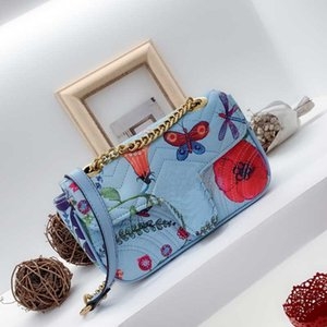 Femmes sac à bandoulière Mode sac à bandoulière Sacs à main Sacs à main Lady Bule chaîne Portefeuilles Sacs à main femmes Enveloppe