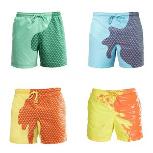 Men'S Swimwear Beach Toursers Men'S Swimming Trunks Colorful Plaid 3D Printed Beach Pants Casual Five Pants#773