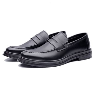 for Lightweight Slip-On Formal Shoes Men Moc Toe Casual Cushioned Comfort Penny Loafers Soft Leather Moccasin Shoes Size 6~10