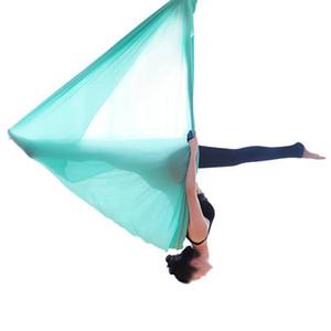 5 метров Aerial Yoga Гамак Эластичность Качели Многофункциональный Анти-гравитационный Йога Обучение Ремни Йога кровать Фитнес оборудование