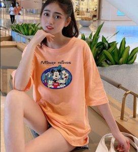 2020 New Womens Designer T-shirts Long Length Summer Loose Breathable Plus Size Womens Carton Stlye Fashion Print Cloths PH+ZY20042404