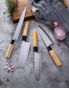 고급 다마스커스 일본 주방 스시 요리 나이프 나이프 세트 육류 칼 절단기 날카로운 야채 나이프 8 인치 나무 손잡이 요리사 칼
