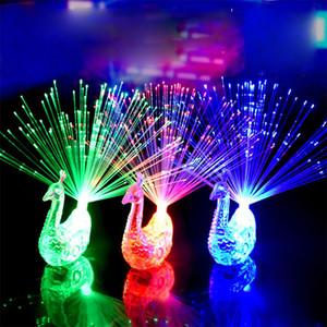 BRELONG LED 빛 공작 손가락 빛 레이저 빔 링 섬유 장난감 플래시 파티 장식 레드 그린 블루 혼합