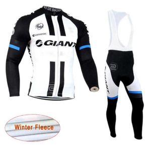 2019 New GIANT team Cycling Winter Thermal Fleece jersey (bib) pants sets men Long Sleeves bike maillot roupa ciclismo zefengst