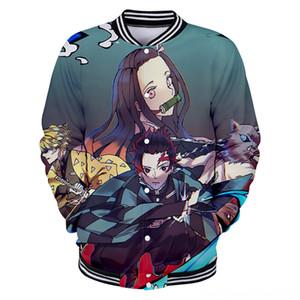 Ghost Blade New Baseball Wear Women Men Casual 3D Jacket Sweatshirt Fashion 3D Boys emon Slayer Blue Women's Outerwear & Coats Women's Clot