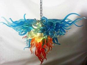 مصابيح الفن الأزرق الظل اللون مثلث الثريات ضوء تركيبات مورانو الزجاج الثريا ومصابيح قلادة - غريبان العلامة التجارية