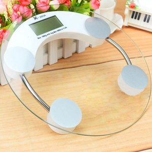 Electronic 180Kg 5mm 4mm Household Digital Weighing Body Weight Round Fitness Glass Scale Hot Selling Market Trend