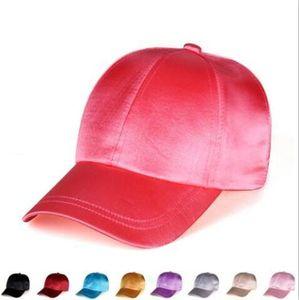 Seda Satins sombreros de béisbol sólido gorras de plato fiesta informal Sombrero de sol ajustado el recorrido del partido Sun de la manera hombres del casquillo de las mujeres al aire libre Playa Sombrero PY6