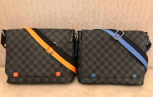 2020 Cartella semplice Mens Cartella Slim Cartella Solid Grande Laptop Bag dell'uomo di affari del messaggero del sacchetto per gli uomini 28 centimetri