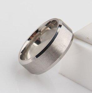 Key4fashion Clássico Tom de prata grande 6mm anéis de noivado de homens anéis de dedo de aço de tungstênio 316L para homens preço de atacado EUA tamanho 6-14
