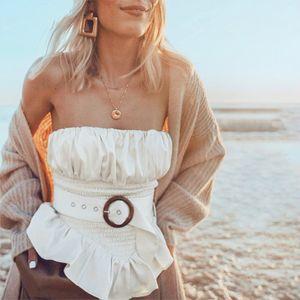 Summer White Slim Solid Tank Top Women Irregular Peplum Shirt Vest Tube Tops 2020 Ruched Satin Vest Top Clothes Sashes