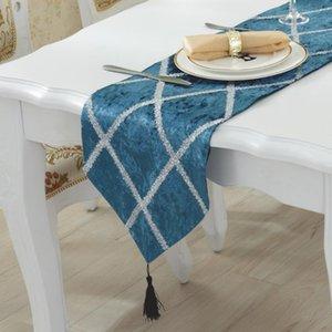 chemin flanella dei corridori della Tabella moderna de runner per la festa nuziale camino de mesa tafelloper Bed Flag casa dicembre