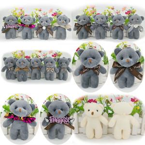 Nueva cadena linda muñeca de la felpa del oso de peluche 12cm muñeca de la historieta de la decoración felpa colgante del bolso Vinculado clave oso L595