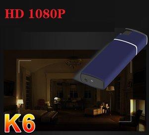 K6 أخف كاميرا DVR HD 1080P 30fps تجهيز رؤية ليلية أخف كاميرا صغيرة مسجل فيديو رقمي USB صغير أخف كاميرا فيديو في مربع للبيع بالتجزئة
