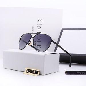 Luxus-2019 heiße Marke Mode Männer und Frauen designerretro Brillen 4303 Vollformat Top-Qualität UV-Schutz kommen Sonnenbrillen