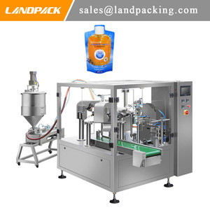 Bagged Shower Gel Rotary Packer Machine Liquid Stand Pouch Packing Machine Price