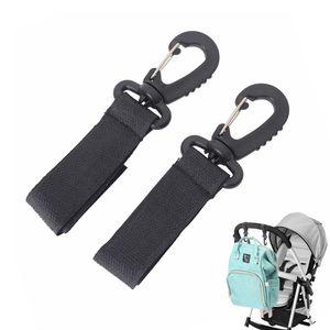 2pcs Rotate Stroller Accessory Hooks Wheelchair Stroller Pram Bag Hook Baby Strollers Shopping Bag Clip Stroller Accessories