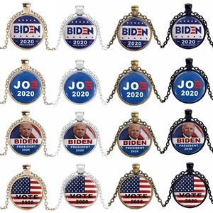 Pierres précieuses Collier Biden Tag 2020 président américain Élection Donald Trump Joe Biden général de la campagne électorale de style cadeau 32 HHA1396