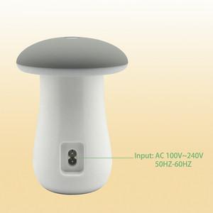LED 램프 버섯과 역 충전 QC 3.0 5 포트 USB 허브 충전기 독