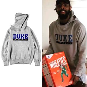 С капюшоном Мужчины Женщины Толстовка NCAA Basketball Irving письмо Отпечатано Duke Uncle Drew Фильм Тонкий хлопок Дизайнер Толстовка пуловер Streetwear