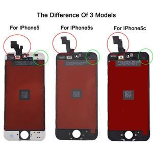 아이폰 5 iPhone5s iPhone5c LCD 디스플레이 터치 스크린 디지타이저 전체 어셈블리 교체 부품 흑백 무료 배송