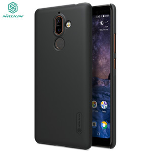 wholesale 7 plus Case Nokia 7 plus Cover NILLKIN Frosted Shield PC Back Cover For Nokia 7 plus Phone Cases with Screen Protector