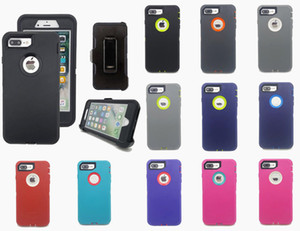 Robot Heavy Duty Super Shockproof Defender Case For iPhone 12 XR 11 X Xs Max 7 8 Plus With Belt Clip Free Shipping