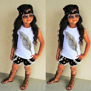 Toddler Kids Neonate Vestiti Senza maniche Pantaloncini Shorts Fascia 3 pezzi Abiti Set 2-7Y