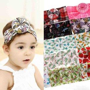 Baby Boys Girl Fasce con accessori per capelli in nylon palla Bohemia Grid Flower Fruit stampato Ins Hair Band Kids Headdress Bohemia Boutique