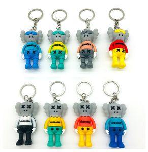شارع السمسم كوس قلادة دمى ولعب سلسلة المفاتيح المعلقات PVC الدب القاتمة سلاسل مفاتيح الحرة الشحن