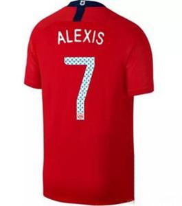 Personalizado 19-20 Chile casa rojo hombres 7 ALEXIS 8 A.VIDAL 10 VALDIVIA 17 MEDEL Camisetas deportivas de calidad tailandesa cerca de mí, ropa para hombre, camisetas personalizadas