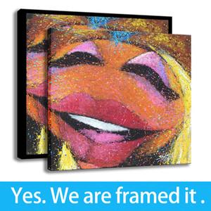 Hazır için askıda - - Gitar HD Stephen Fishwick Sanat Dekor Muppets Janice Tuval Çerçeveli Resim Sanatı yazdır Destek Özelleştirme