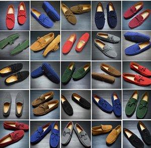Zapatos de los hombres del cuero auténtico nuevo tamaño grande del verano de moda ante los hombres de cuero zapatos casuales para hombre de los holgazanes de conducción suave mocasines