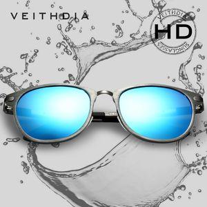 Veithdia Unisex Retro Alüminyum Magnezyum Güneş Gözlüğü Polarize Lens Vintage Gözlük Aksesuarları Güneş Gözlükleri ulculos De Sol 6680 Y19052004