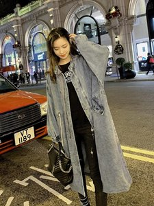 Autumn winter new coat trench coat oversize long trench casual women's long coa cowboy female duster Coats