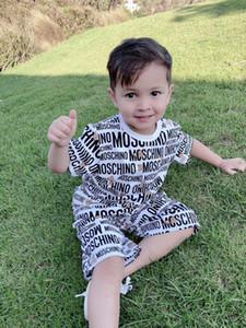 Новый летний комплект детской одежды мультфильм печати Baby Boy одежда 2 шт. малыш девушки с коротким рукавом + шорты наборы Детская одежда наборы