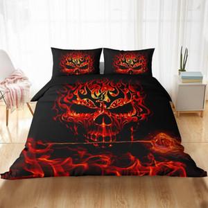 Fanaijia 3d Пожар Череп постельного белья Queen Size Sugar Skull пододеяльник и наволочки кровать Утешителя