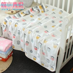 110*110cm baby bath towel blanket gauze children's quilt quality baby children's cotton 6-layer gauze bath towel