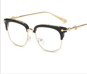 Стеклянные рамки для мужчин и женщин с близорукостью очки рамка модные плоские очки