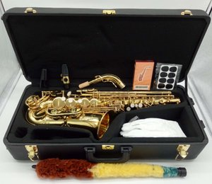 Alto Saxophone Brand New YANAGISAWA A-902 Laque or Sax Embouchure professionnels Patches Pads Roseaux Bend Neck