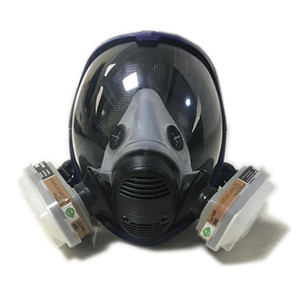 DHL 선적 새로운 스타일 2 in 1 기능 6800 전체 얼굴 호흡기 실리콘 전체 얼굴 가스 마스크 Facepiece 스프레이 페인팅