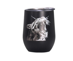 12oz Sublimation Egg Cup Stainless Steel Vacuum Wine Tumbler Insulated Coffee Beer Mug Double Wall Mug 3D