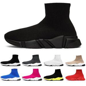 2020 дизайнер носок обувь Мода роскошные мужчины женщины кроссовки тройной черный белый граффити бежевый желтый скорость тренер мужская повседневная спортивная обувь