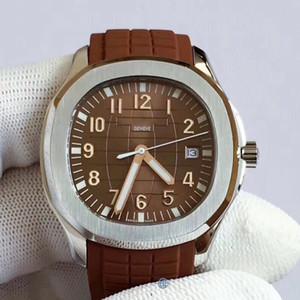 U1 fabbrica di qualità Nautilus Mens Watch Aquanaut 2813 Movimento automatico Orologi cinturino in gomma Brown Dial 5711 Mens Orologi da polso