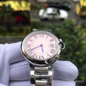 Moda relojes de las mujeres de 33 mm correa de acero de mujer azul zafiro rosa mecánica hebilla de la marca del reloj zcek Online
