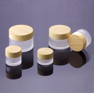 5g 10g 15g 30g 50g tarros cosméticos de maquillaje Crema vacío crema facial recargable Contenedores Embalaje Botella Con cubierta de madera del grano