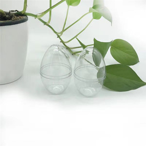 1PC Egg Shaped Transparent Empty  Sponge Shaper Puff Holder Stand Storage Box Cosmetic Egg Puff Case