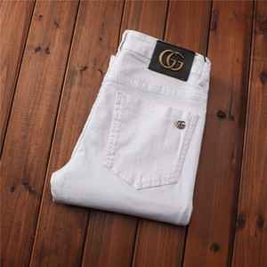 Erkek Jeans Stil Moda Stil Giyim Siyah Glitter Biker Jeans Yıkanmış Tasarım Casual Sıkıntılı Pantolon TOP KALİTE ABD Boyutu 28-38