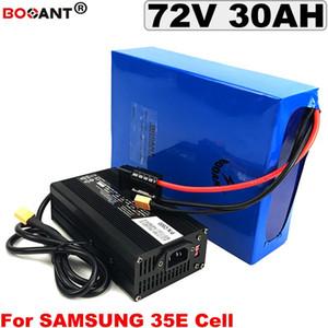 E-lithium moto puissante batterie 72V 20Ah 30Ah batterie de bicyclette scooter électrique pour Samsung 72 35Ah 40Ah 50Ah 5000w + 5A chargeur