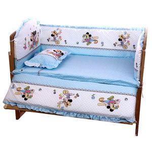 5Pcs / Set Cartoon Animierte Krippe Bett Auto für Neugeborene 100% Baumwolle Bequeme Kinderbett-Schutz-Baby-waschbare Bettwäsche-Set